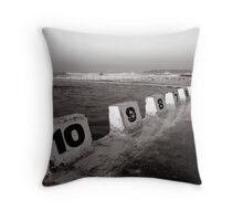 Ocean Bath - B&W Throw Pillow