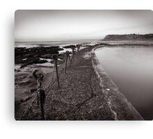 Newcastle Beach - B&W Canvas Print