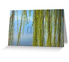 Natural curtain @ Lake Kerkini Greeting Card