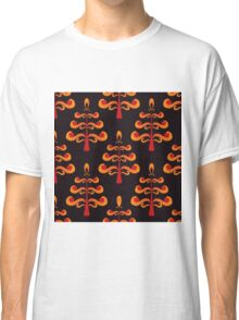 seamless pattern with abstract tree with apple Classic T-Shirt