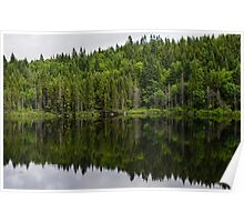 Still Forest Lake Reflections - Charlevoix, Quebec, Canada Poster
