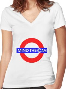 Mind the Cam Women's Fitted V-Neck T-Shirt