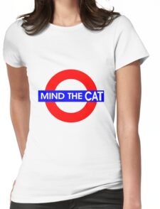 Mind the Cat Womens Fitted T-Shirt