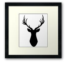 Stag (Black) Framed Print