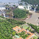 Iguazu Falls (from helicopter) - Brazil by Mathieu Longvert