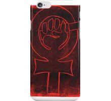 Feminist woman symbol  iPhone Case/Skin