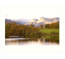 The Langdales and Loughrigg Art Print