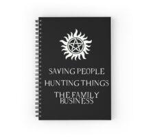 Supernatural motto Spiral Notebook