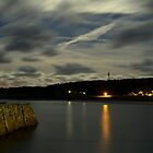 Douglas Quay & Braye at night by NeilAlderney
