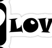 Peace Love Poker Sticker