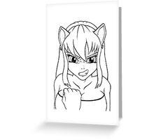 Nekogirl Greeting Card