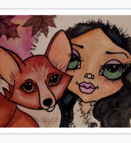 Foxy Fall Sticker