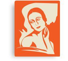 prima ballerina - orange version Canvas Print
