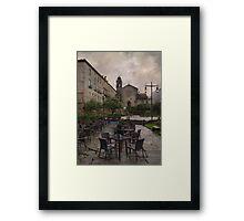 Rainy day at Pontevedra Framed Print