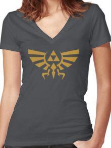 Zelda Triforce Women's Fitted V-Neck T-Shirt