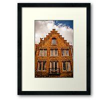 A Facade in Brugge Framed Print