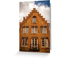 A Facade in Brugge Greeting Card