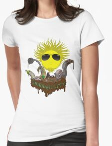 Summer city Womens Fitted T-Shirt