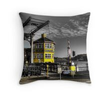 Marina Boat Sales Office Throw Pillow