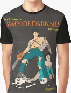 Army Of Darkness Brown Graphic T-Shirt