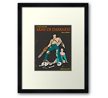 Army Of Darkness Brown Framed Print