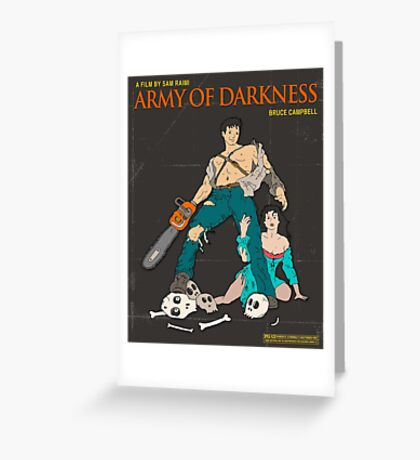 Army Of Darkness Brown Greeting Card