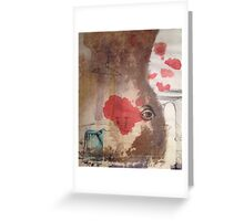 Turquoise towel Greeting Card