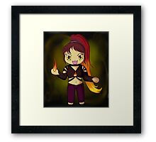 Crazed Chibi Framed Print