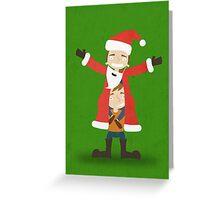 Children dressed as Santa Christmas Greeting Card Greeting Card