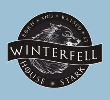 Born and Raised at Winterfell Kids Clothes