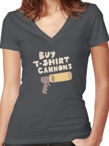 Buy T-Shirt Cannons Women's Fitted V-Neck T-Shirt