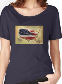 US Map Women's Relaxed Fit T-Shirt