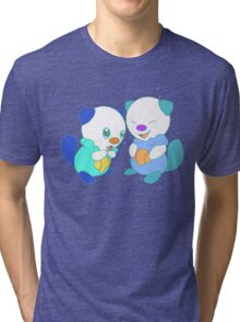 Hey, you look different! ( Oshawott ) Tri-blend T-Shirt