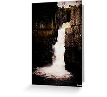 The Waterfall in November  Greeting Card