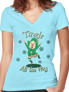 Tingle All the Way Women's Fitted V-Neck T-Shirt