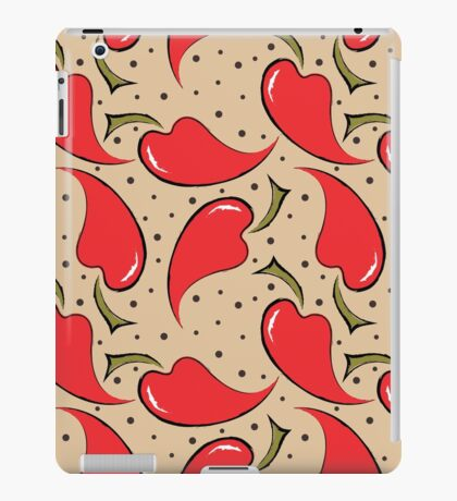 seamless pattern with red peppers iPad Case/Skin