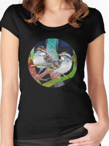 White-throated sparrows Women's Fitted Scoop T-Shirt