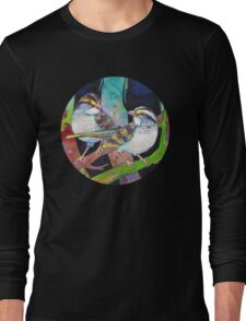 White-throated sparrows painting - 2012 Long Sleeve T-Shirt