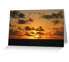 Sunrise in the Atlantic Ocean Greeting Card