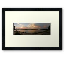 Sunset at the Saloon Framed Print
