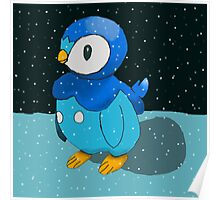 Piplup in the snow Poster
