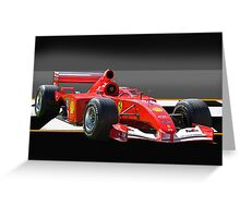 Ferrari Formula One F1 Greeting Card