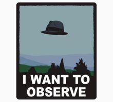 I Want to Observe (STICKER) by mikehandyart