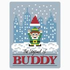 The Legend of Buddy (STICKER) by mikehandyart