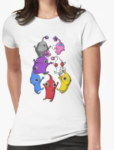 Jumping Pikmin Womens Fitted T-Shirt