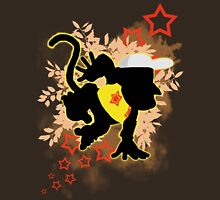 Super Smash Bros. Yellow Diddy Kong Silhouette Unisex T-Shirt