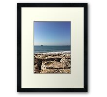 Sky, Water and Rocks Framed Print