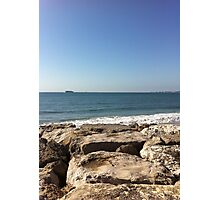 Sky, Water and Rocks Photographic Print
