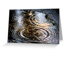 Rain Puddle in Autumn Greeting Card