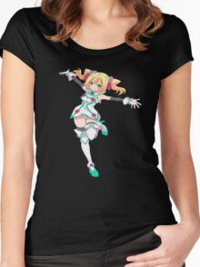Hacka doll the animation Women's Fitted Scoop T-Shirt